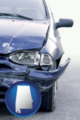al an automobile accident, hopefully covered by insurance