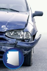 az an automobile accident, hopefully covered by insurance