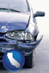 ca an automobile accident, hopefully covered by insurance