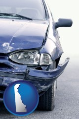 de an automobile accident, hopefully covered by insurance