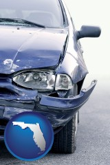 fl an automobile accident, hopefully covered by insurance