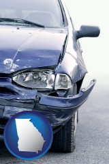 ga an automobile accident, hopefully covered by insurance