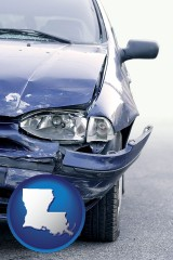 la an automobile accident, hopefully covered by insurance