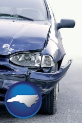 nc an automobile accident, hopefully covered by insurance
