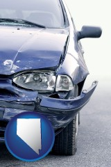 nv an automobile accident, hopefully covered by insurance
