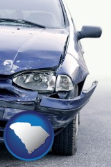 sc an automobile accident, hopefully covered by insurance