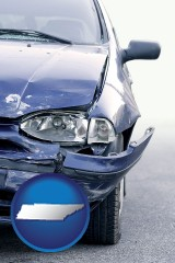 tn an automobile accident, hopefully covered by insurance