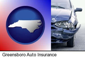 Greensboro, North Carolina - an automobile accident, hopefully covered by insurance