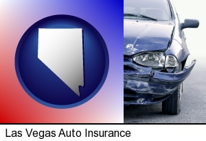 an automobile accident, hopefully covered by insurance in Las Vegas, NV
