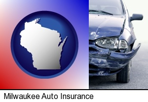 an automobile accident, hopefully covered by insurance in Milwaukee, WI