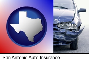 an automobile accident, hopefully covered by insurance in San Antonio, TX