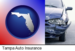 an automobile accident, hopefully covered by insurance in Tampa, FL
